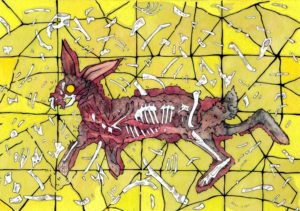 rabbit-roadkill-drawing-bones-painting-eve-austin-white